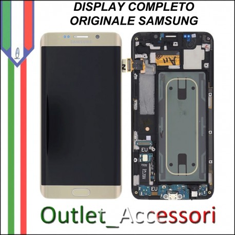Display LCD Touch Samsung S6 EDGE PLUS SM Originale GOLD Nero Schermo GH97-16636A