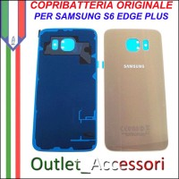 Copribatteria Back Cover Originale Samsung Galaxy S6 Edge Plus GOLD G928F Vetro