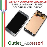 Display LCD Touch Samsung Galaxy S5 NEO G903F Originale SILVER Schermo GH97-17787A