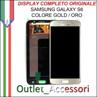 Display LCD Touch Samsung Galaxy S6 Originale SM-G920 G920F GOLD Schermo Completo GH97-17260A
