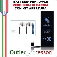 Batteria Pila per Apple Iphone 5S Originale Zero Cicli Carica con Kit