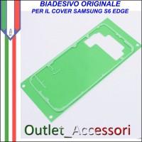 Biadesivo Adesivo Assemblaggio Copribatteria Samsung Galaxy S6 G920F Originale Back Cover