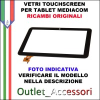 Vetro TouchScreen Touch Mediacom MP1051S2 Tablet Ricambio Originale