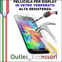 Pellicola Protezione Schermo Display Vetro Temperato Alta Resistenza Apple Iphone 5
