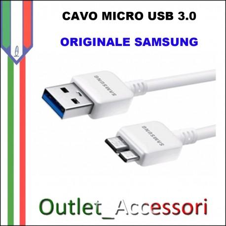 Cavo Dati e Alimentazione Micro USB 3.0 Samsung Originale Bianco ET-DQ10Y0WE
