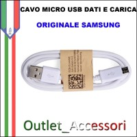 Cavo Dati e Alimentazione Micro USB Samsung Originale Bianco SAM-0147 1 METRO