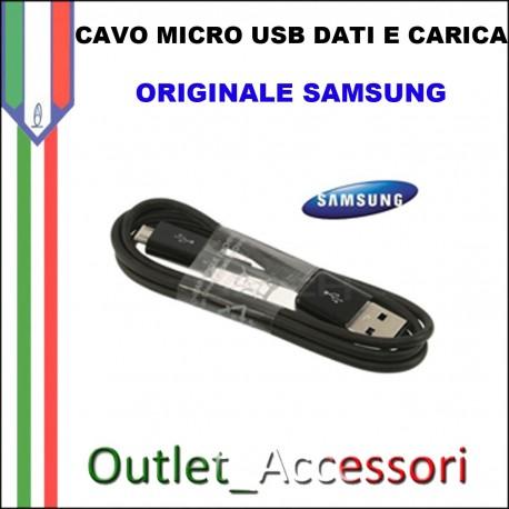 Cavo Dati e Alimentazione Micro USB Samsung Originale NERO SAM-0147 1 METRO