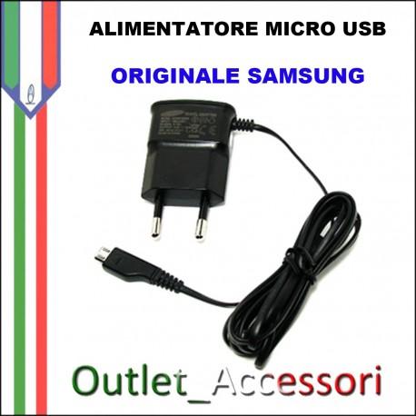 Alimentatore Micro USB Samsung Originale NERO ETA-OU10EBE