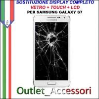 Cambio Sostituzione Display Rotto Samsung GALAXY S7 Schermo Vetro Touch Lcd Assemblaggio