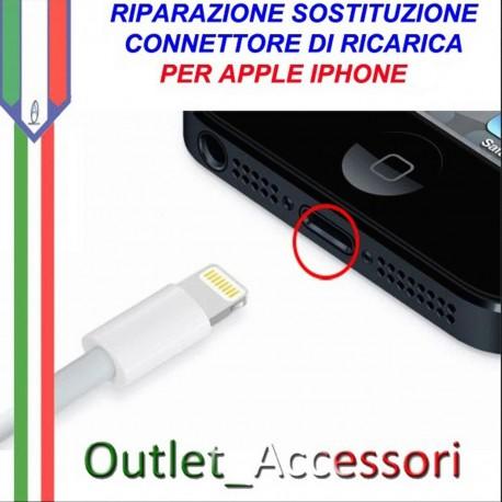 Sostituzione Connettore Flat Carica Ricarica Apple Iphone 6 6g Pulsante Riparazione Assistenza