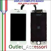 Display Schermo Iphone 6 Plus LCD Touch Screen Vetro Apple A1522, A1524 BIANCO