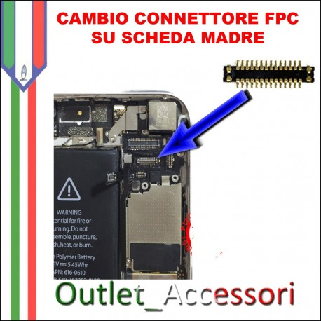 Cambio Sostituzione Saldatura Scheda Madre Connettore FPC Touch Touchscreen Apple Iphone 5C