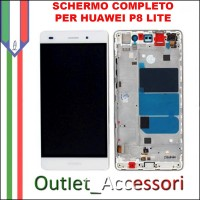 Display Schermo Lcd Touch Screen Vetro Huawei Ascend P8 LITE Bianco