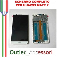 Display Schermo Completo Huawei MATE 7 LCD Vetro Touch Frame ALE-L21 L23
