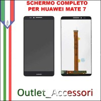 Display Schermo Completo Huawei Ascend Mate 7 NERO LCD Touch