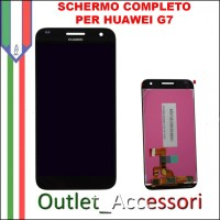 Display Schermo Completo Huawei Ascend G7 NERO LCD Touch