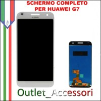Display Schermo Completo Huawei Ascend G7 BIANCO LCD Touch G760-L01