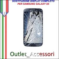 Sostituzione Display Samsung Galaxy S5 G900F Lcd Vetro Schermo Rotto Riparazione Cambio Assemblaggio
