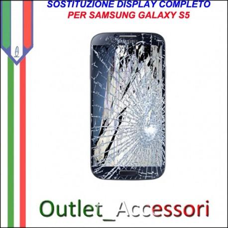 Sostituzione Display Samsung Galaxy S5 G900 SM-G900 Lcd Vetro Schermo Rotto Riparazione Cambio Assemblaggio GT-I9505