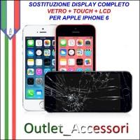 Sostituzione Riparazione Cambio Display Lcd Vetro Touch Touchscreen Schermo Rotto per Apple Iphone 6