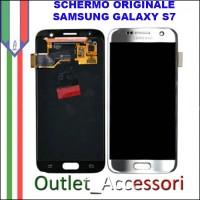 Display LCD Touch Samsung Galaxy S7 Originale SM-G930f G930 SILVER GRIGIO Schermo Completo GH97-18523B