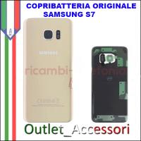 Copribatteria Back Cover Originale Samsung Galaxy S7 GOLD SM-G930F Vetro