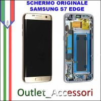 Display LCD Touch Samsung Galaxy S7 EDGE Originale SM-G935f G935 BIANCO Schermo Completo GH97-18533A