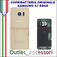 Copribatteria Back Cover Originale Samsung Galaxy S7 EDGE BIANCO SM-G935F Vetro
