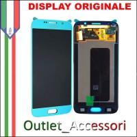 Display LCD Touch Samsung Galaxy S6 Originale SM-G920 G920F TOPAZIO Schermo Completo GH97-17260D