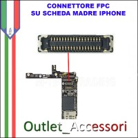 CONNETTORE FPC SENSORE CAMERA FRONTALE APPLE IPHONE 5 SCHEDA MADRE