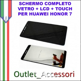 Display Schermo Completo Huawei Ascend G7 NERO LCD Touch G760-L01