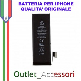 Batteria Pila per Apple Iphone 5 5g APN 616-0611 Qualita' Originale A1428 A1429 A1442