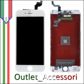Display Schermo Apple Iphone 6S Plus LCD Touch Screen Vetro A1634 A1687 A1699 BIANCO Originale TianMa