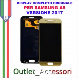 Display LCD Touch Samsung A5 2017 A520 A520F BLU CELESTE Schermo Completo Originale GH97-19733C