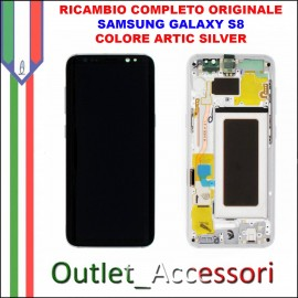 Display LCD Touch Samsung Galaxy S8 G950 Originale SM-G950F GRIGIO Orchid Gray Schermo Completo GH97-20457C