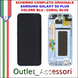Display LCD Touch Samsung Galaxy S8 G950 Originale SM-G950F BLU CORAL BLUE Schermo Completo GH97-20457D