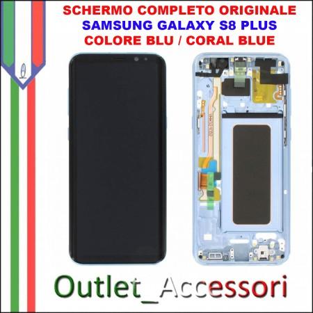 Display LCD Touch Samsung Galaxy S8 G950 Originale SM-G950F BLU CORAL BLUE Schermo Completo GH97-20457D