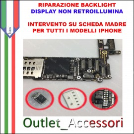 Riparazione Backlight Apple Iphone 6 Display non Retroillumina Cambio Diode Filtro Bobina Luminosità