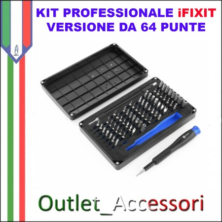 Set Kit iFixit 64 Bit 64BIT Driver Cacciavite Iphone 7 Pentalobe Torx Tri-Point