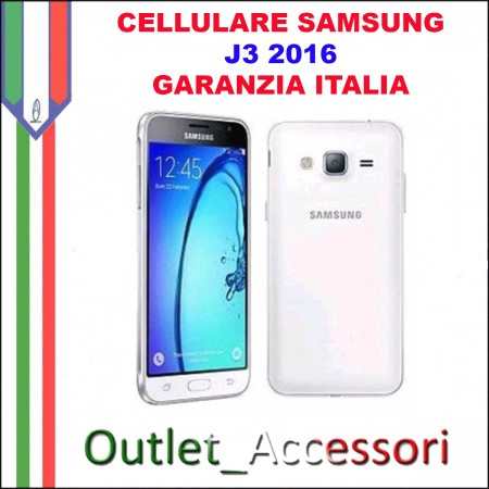 cellulare smartphone samsung j3 2016 sm j320fn j320 bianco garanzia italia. Black Bedroom Furniture Sets. Home Design Ideas