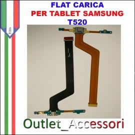 Flat Carica e Microfono Samsung Tab PRO T520 Tablet Jack USB Ricarica