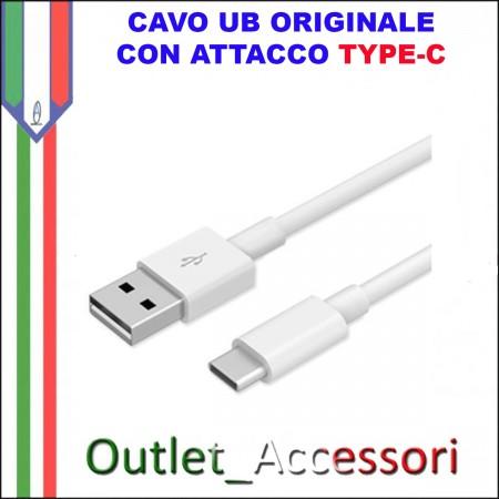 Cavo Dati e Alimentazione TYPE-C TIPO C USB Samsung Originale Bianco EP-DN930CWE 1 METRO