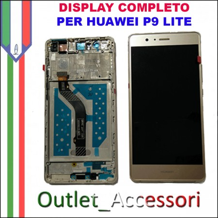 Display Schermo Huawei P9 LITE GOLD LCD TOUCH Vetro Cornice VNS-L21 L22 L23 L31 L53