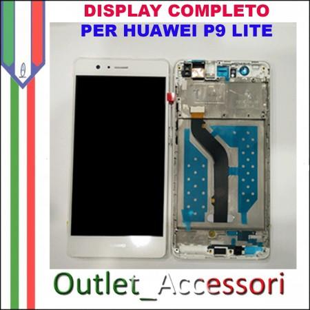 Display Schermo Huawei P9 LITE BIANCO LCD TOUCH Vetro Cornice VNS-L21 L22 L23 L31 L53