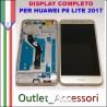 Display Schermo Huawei P8 LITE 2017 GOLD ORO LCD TOUCH Vetro Cornice PRA-LA1 PRA-LX1
