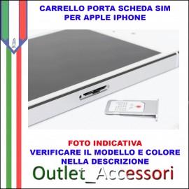 Carrello Porta Sim Scheda Apple Iphone 6 Nero