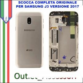 Copribatteria Scocca Samsung J3 2017 J330 J330FN Gold Oro Originale Telaio Cornice