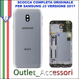 Copribatteria Scocca Samsung J3 2017 J330 J330FN SILVER