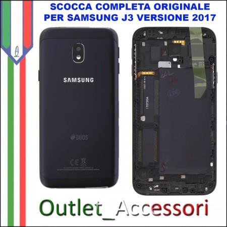 Copribatteria Scocca Samsung J3 2017 J330 J330FN NERA