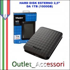 Hard Disk Esterno Portatile 1TB Maxtor USB 3.0